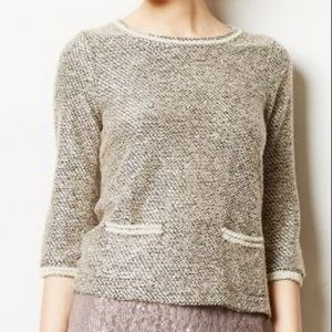 Anthropologie Meadow Rue Tweed Embellished Top